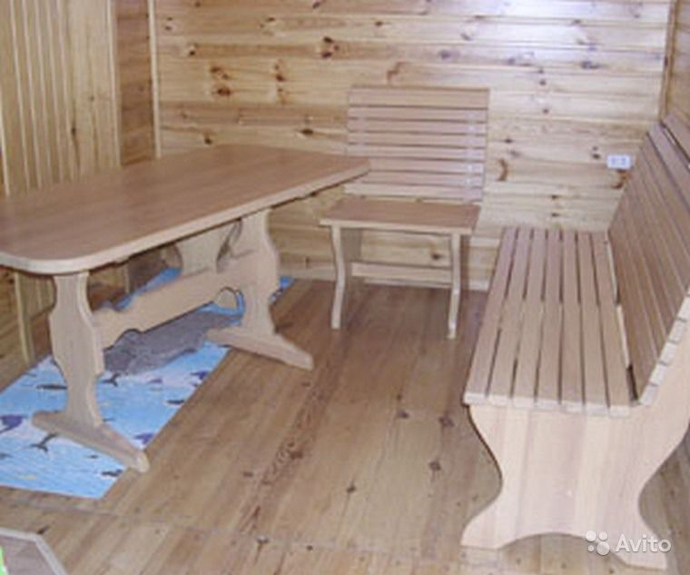 Деревянные столы для бани фото