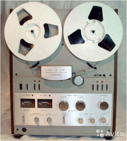 Катушечный магнитофон союз 110