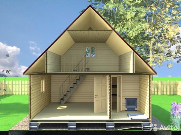 Каркасный дом с баней