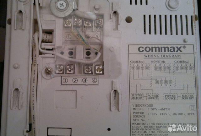 Commax DPV - 4MTN чёрно-белый