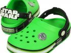 Сабо сандалии Crocs Lights Star Wars Yoda Clog