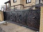 Забор кованый, сварной, Ворота откатные, распашные