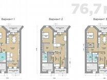 Таунхаус 76.7 м² на участке 1 сот.