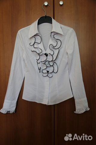 белые блузки с рюшами купить