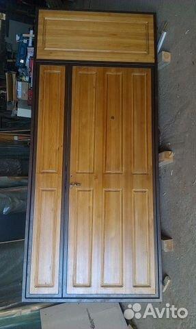 металлические двери обитые деревом купить