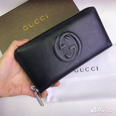 Мужской кошелек Gucci кожа купить в Москве на Avito — Объявления на ... 6a1cf124e50