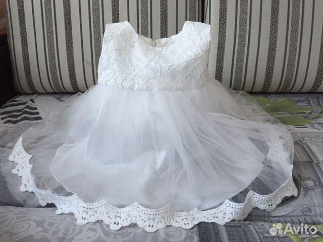 c42c323f0b43cde Нарядное платье р. 80 купить в Смоленской области на Avito ...