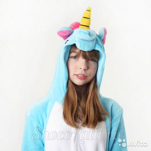 Кигуруми пижама единорог голубой купить в Москве на Avito ... 54ea1fa5836c8