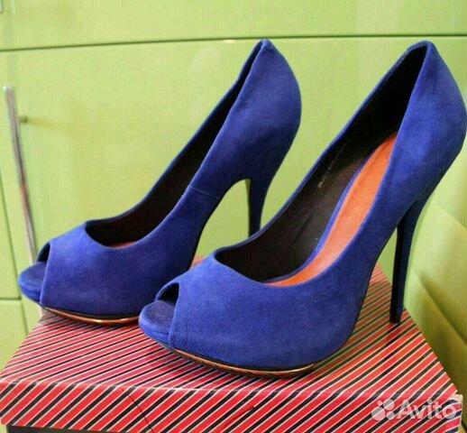 Туфли синии р. 39 89005645185 купить 1
