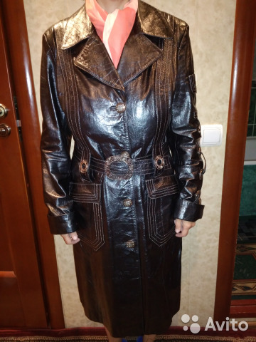 Плащ женский кожаный, размер 48-50
