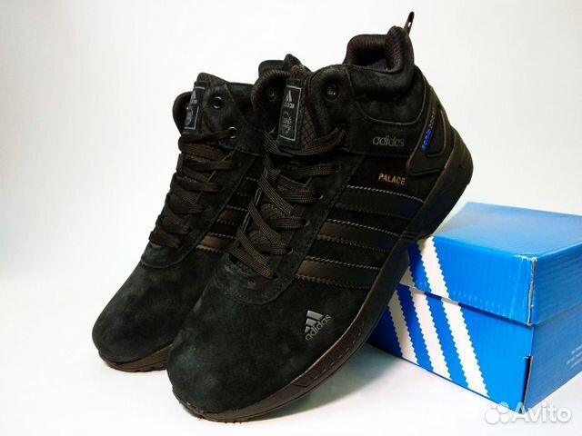 9f22c47c Зимние Кроссовки Adidas Palace черные с мехом | Festima.Ru ...