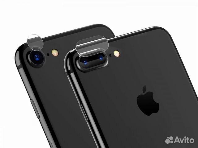 Защитное стекло на камеру айфон 7