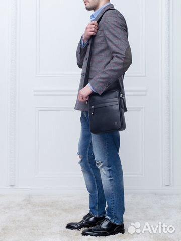 591c253440e6 Мужская кожаная сумка eleganzza Z-60011 black купить в Москве на ...