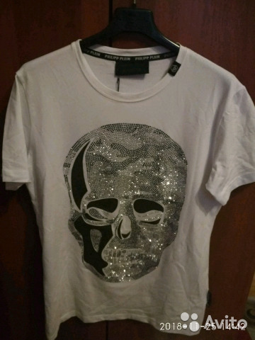Новая белая футболка с черепом philipp plein купить в Санкт ... 1aa6c51bc6b60