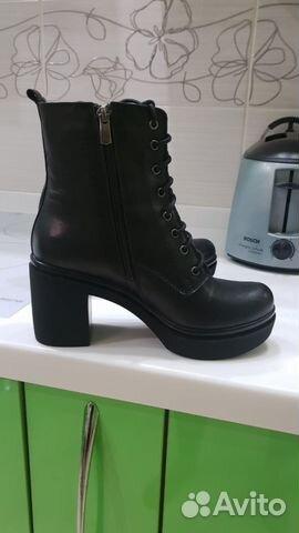 1e56d481e Женские высокие черные кожаные ботинки Respect   Festima.Ru ...