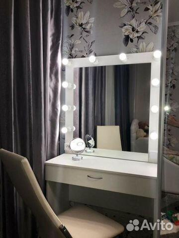 гримерное зеркало туалетный столик с подсветкой купить в
