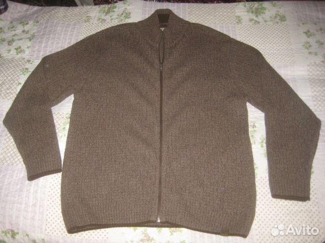9df5e5899b7 Теплый шерстяной свитер-куртка Camel Германия р.58
