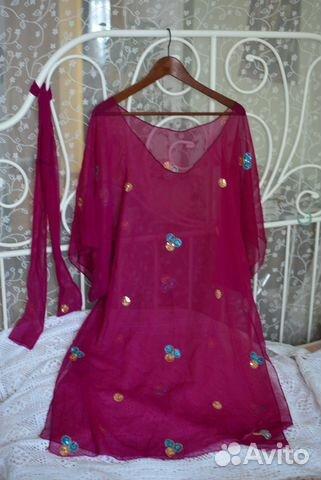 845f324547a Туника из индийского сари цвет фуксия купить в Москве на Avito ...