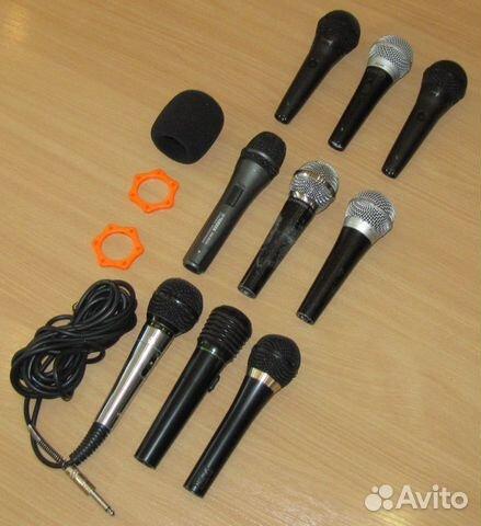 Вокальные микрофоны 9шт. Shure Yamaha Behringer купить 3