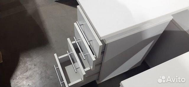 Стол рабочий белый с встроенной тумбой б.у  89220229307 купить 6