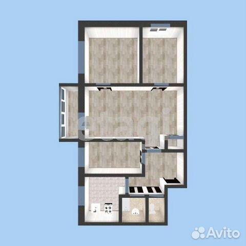 4-к квартира, 58.9 м², 3/5 эт.  89620474619 купить 6