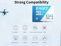 Карта памяти eaget T1 TF Card Class 10 80MB/s 64GB
