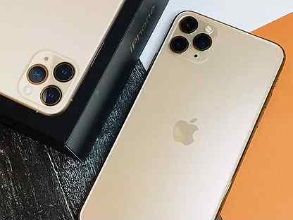 Шикарный iPhone 11 Pro Max 64GB Gold/акб 100/рст