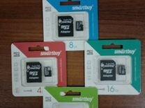 Карты памяти sdhc Smartbuy 10 класс. Новые
