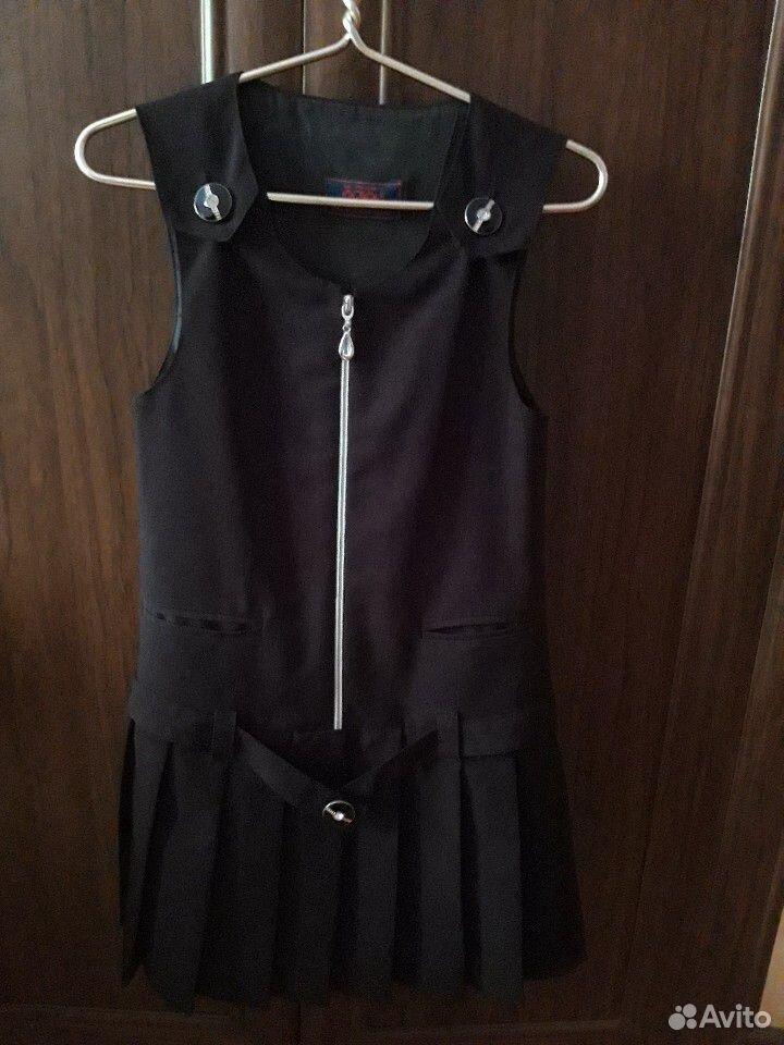 Продаю три школьных платья черного цвета.Рост 134