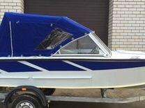 Ходовой тент на мото лодку рал 3793