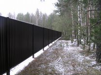 Забор из профнастила с8 2 метра RAL 9005