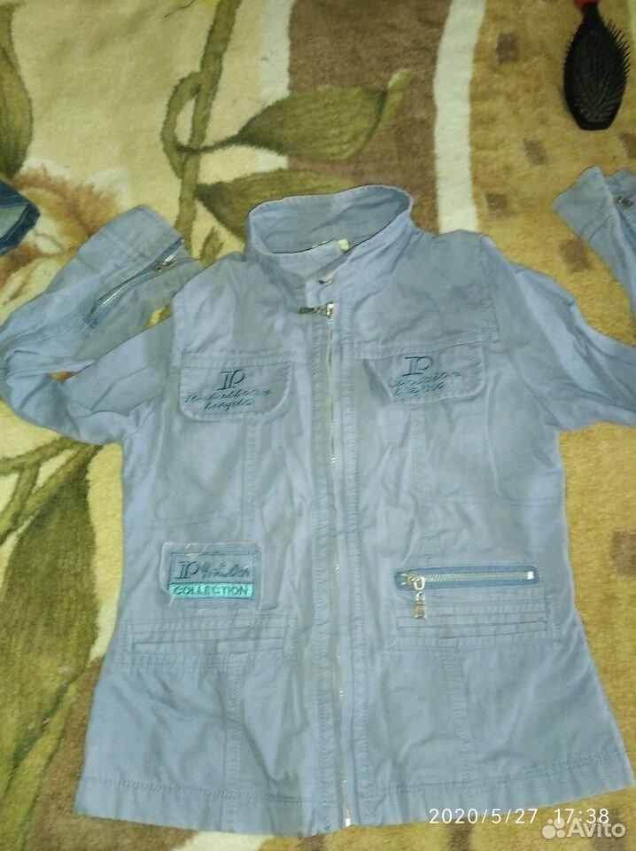 Джинсовые куртки и ветровка для девочки 7-8 лет  89109631283 купить 4