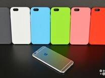 Silicone case iPhone 6 цвет черный A1524 ZP/A