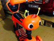 Самокат с сиденьем для малышей Мото 5в1, оранжевый