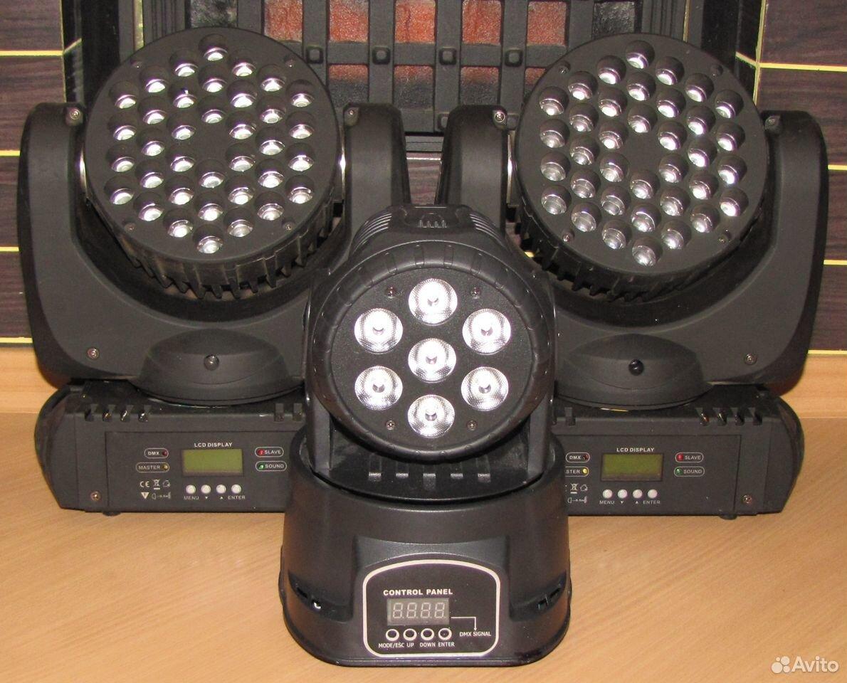 Проф светомузыка 3 вращающиеся головы LED микрофон  89128899109 купить 7