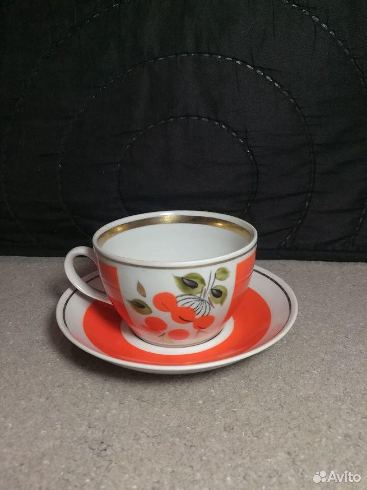 Чайные пары Рябина СССР завод Полонне, 80-е 89003463073 купить 4