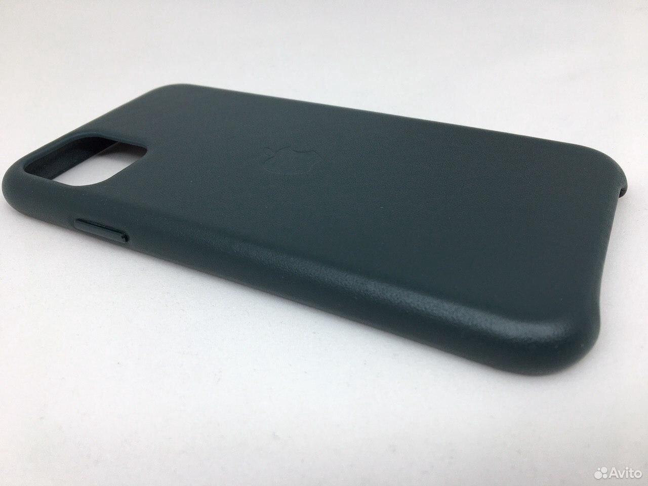 Кожаный чехол Leather Case Apple iPhone 11 Green  89112002770 купить 5