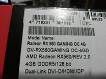 AMD gigabayte RX560 4 GB DDR 5 SAMSUNG